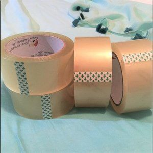 4 Rolls Packing Tape, Industrial Tape 77 yds ea ro
